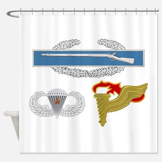 CIB Airborne CJ Pathfinder Shower Curtain