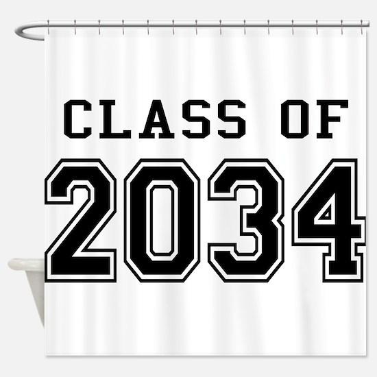 Class 2034 Shower Curtain
