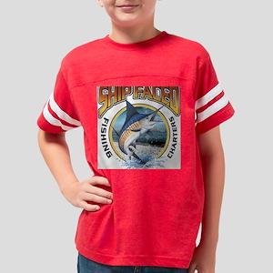 Ship Faced Sail Fish Youth Football Shirt