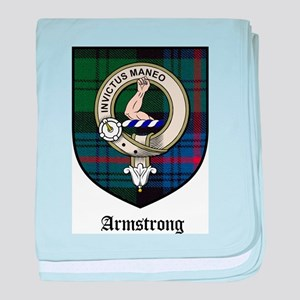 Armstrong Clan Crest Tartan baby blanket