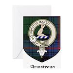 Armstrong Clan Crest Tartan Greeting Card