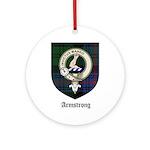 Armstrong Clan Crest Tartan Ornament (Round)