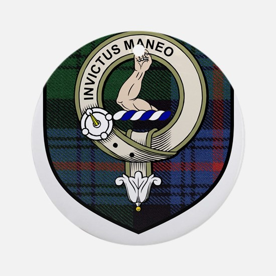 Armstrong Clan Crest Tartan Ornament (Round)