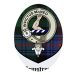Armstrong Clan Crest Tartan Ornament (Oval)