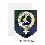 Armstrong Clan Crest Tartan Greeting Cards (Pk of