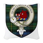 Baillie Clan Crest Tartan Woven Throw Pillow