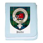 Baillie Clan Crest Tartan baby blanket