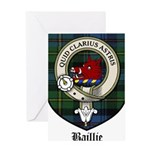 Baillie Clan Crest Tartan Greeting Card