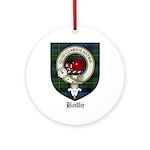 Baillie Clan Crest Tartan Ornament (Round)