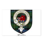 Baillie Clan Crest Tartan Postcards (Package of 8)