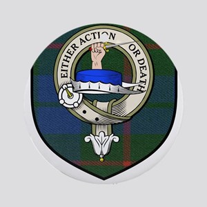Barclay Clan Crest Tartan Ornament (Round)