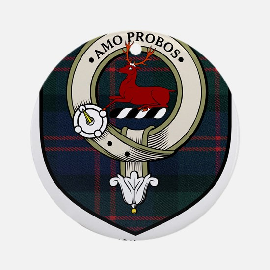 Blair Clan Crest Tartan Ornament (Round)