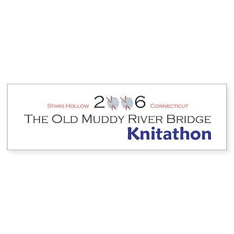 Gilmore Girls Knitathon Bumper Sticker