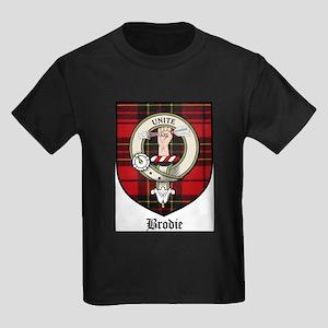 Brodie Clan Crest Tartan Kids Dark T-Shirt