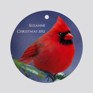 Winter Cardinal Personalized Christmas Ornament
