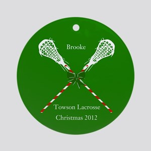 Girls' Lacrosse Personalized Christmas Ornament