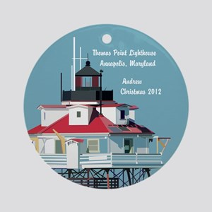 Thomas Point Lighthouse Personalized Ornament