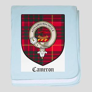 Cameron Clan Crest Tartan baby blanket
