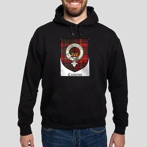 Cameron Clan Crest Tartan Hoodie (dark)