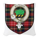Christie Clan Badge Tartan Woven Throw Pillow