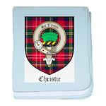 Christie Clan Badge Tartan baby blanket