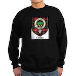 Christie Clan Badge Tartan Sweatshirt (dark)