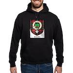 Christie Clan Badge Tartan Hoodie (dark)