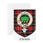 Christie Clan Badge Tartan Greeting Card