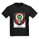 Christie Clan Badge Tartan Kids Dark T-Shirt