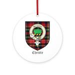 Christie Clan Badge Tartan Ornament (Round)
