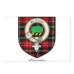 Christie Clan Badge Tartan Postcards (Package of 8