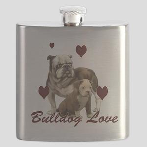 Bullddog Love Flask