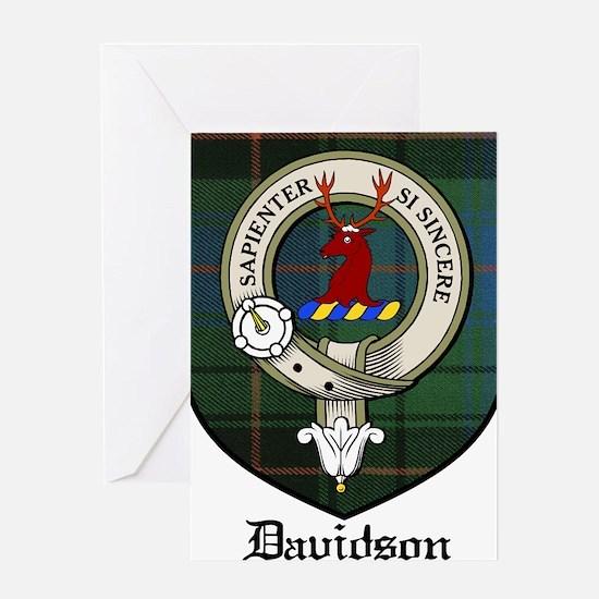 Davidson Clan Crest Tartan Greeting Card