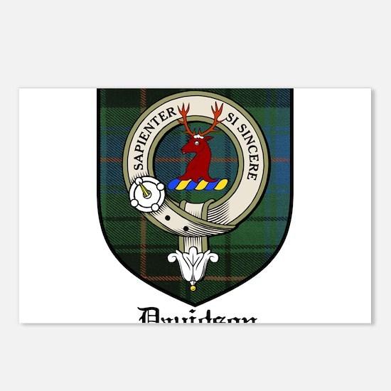 Davidson Clan Crest Tartan Postcards (Package of 8
