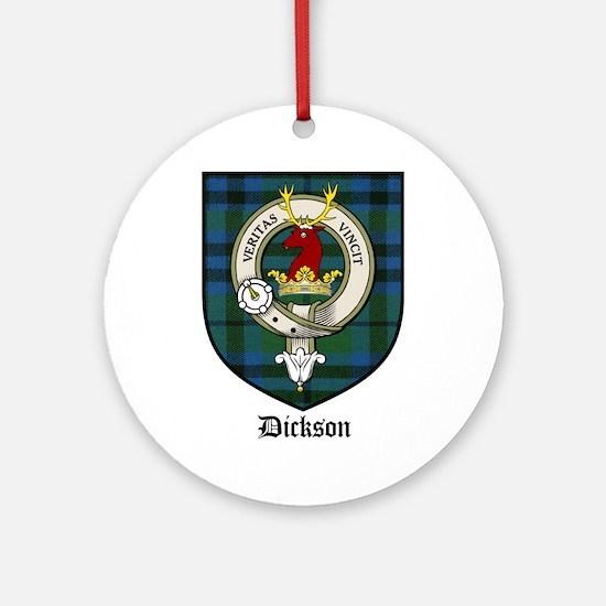 Dickson Clan Crest Tartan Ornament (Round)