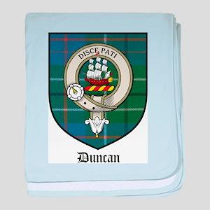 Duncan Clan Crest Tartan baby blanket