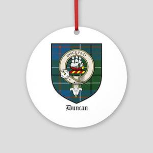 Duncan Clan Crest Tartan Ornament (Round)