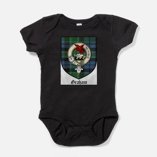 Graham Clan Crest Tartan Baby Bodysuit