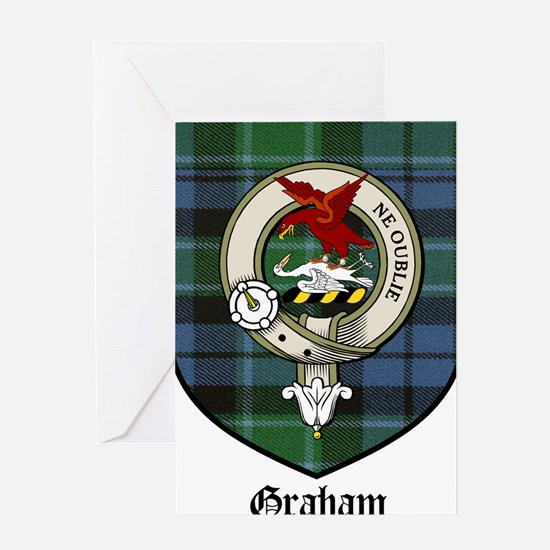 Graham Clan Crest Tartan Greeting Card