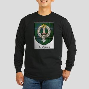 Henderson Clan Crest Tartan Long Sleeve Dark T-Shi