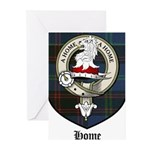 Home Clan Crest Tartan Greeting Cards (Pk of 20)