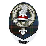 Home Clan Crest Tartan Ornament (Oval)