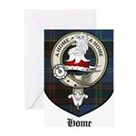 Home Clan Crest Tartan Greeting Cards (Pk of 10)
