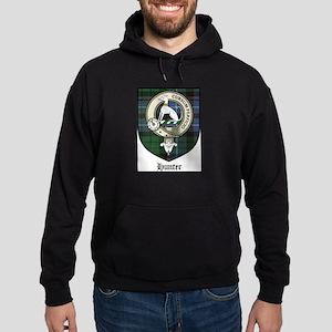 Hunter Clan Crest Tartan Hoodie (dark)