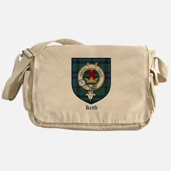 Keith Clan Crest Tartan Messenger Bag
