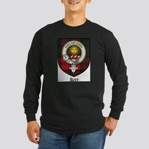 Kerr Clan Crest Tartan Long Sleeve Dark T-Shirt