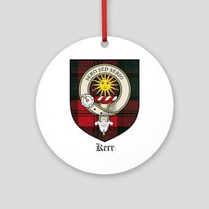 Kerr Clan Crest Tartan Ornament (Round)