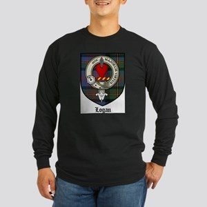 Logan Clan Crest Tartan Long Sleeve Dark T-Shirt