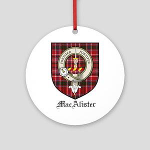 MacAlister Clan Crest Tartan Ornament (Round)
