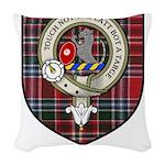 MacBean Clan Crest Tartan Woven Throw Pillow